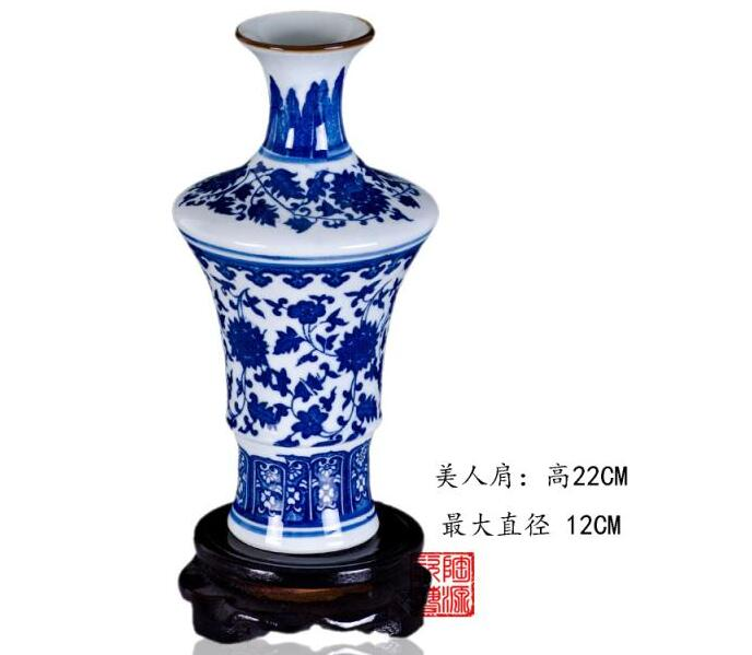 sch ne blau wei e blumenvase mit blumenmotiv dekor 4 deguo shop. Black Bedroom Furniture Sets. Home Design Ideas
